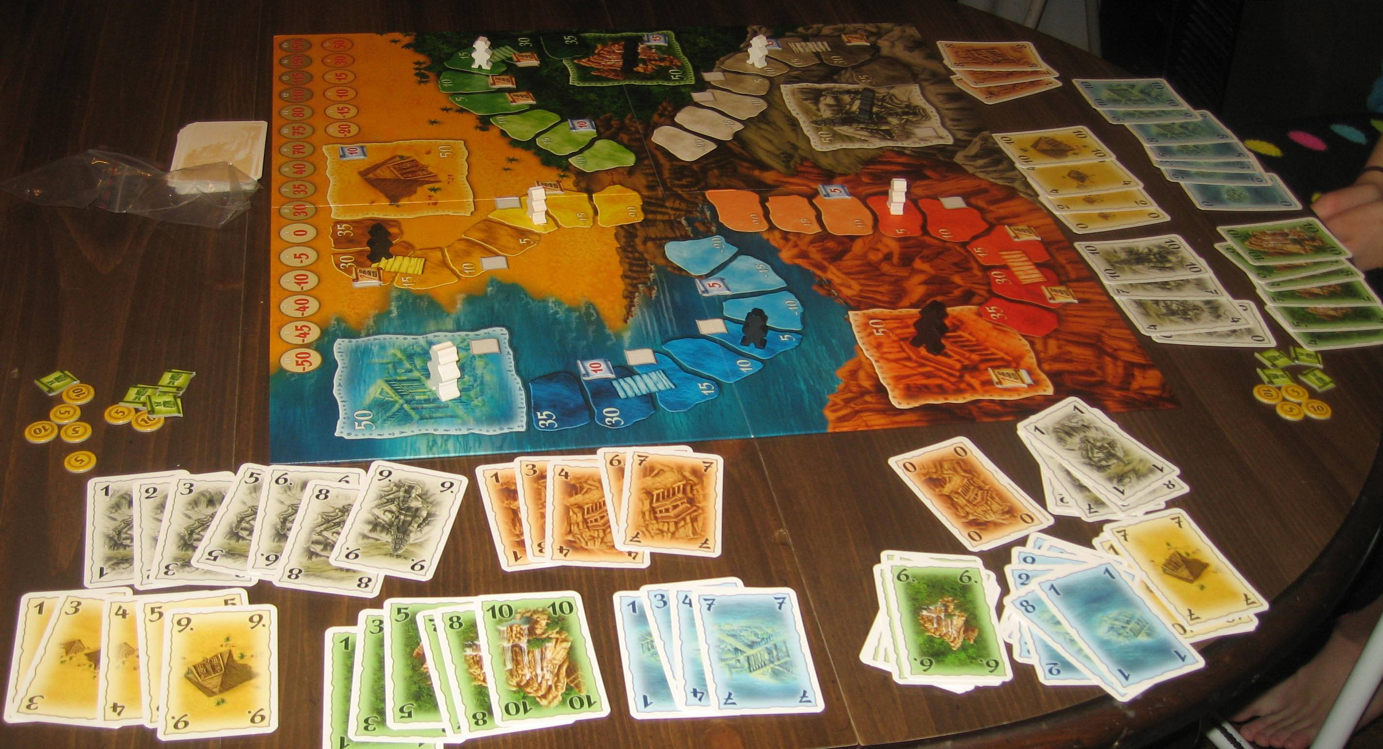 Playing tabletop games - Lost Cities Board Game 2 5 Players Ages 10 Average Playing