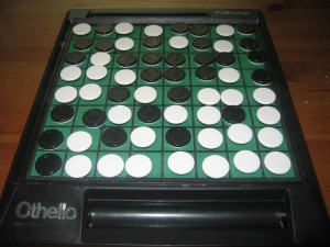 Othello (Reversi), 2 Players, Ages 8+, Average Play Time: 5-10 Minutes