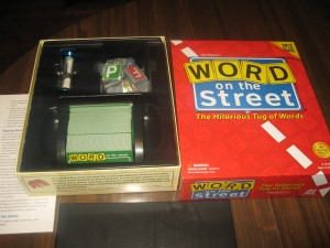 Word on the Street: 2+ players, Ages 12+, Average Play Time: 15-30 Minutes