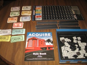 Acquire: 3-6 Players, Ages 12+, Average Play Time: 60 to 90 Minutes