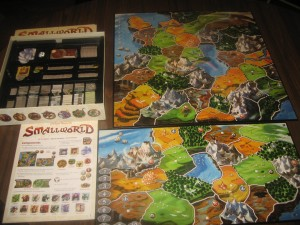 Small World: 2-5 Players, Ages 10+, Average Play Time: 45-60 Minutes