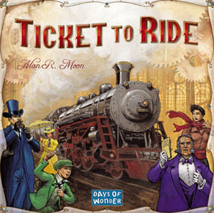 Ticket to Ride, 2-5 Players, Ages 8+, Average Play Time: 45-60 Minutes