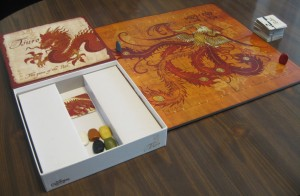 Tsuro: 2-8 Players, Ages 8+, Average Play Time = 15-20 Minutes