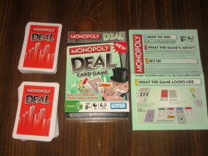 Monopoly Deal: 2-5 Players, Ages 8+, Average Play Time = 15-45 Minutes