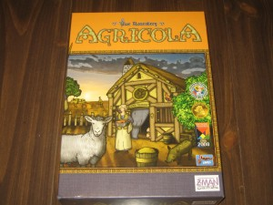 Agricola: 1-5 Players, Ages 12+, Average Play Time: About 1/2 Hour Per Player