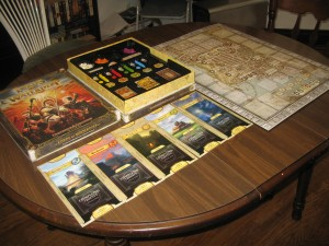 Lords of Waterdeep: 2-5 Players, Ages 12+, Average Play Time = 45-60 Minutes