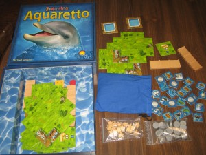 Aquaretto: 2-5 Players, Ages 10+, Average Play Time = 45 Minutes