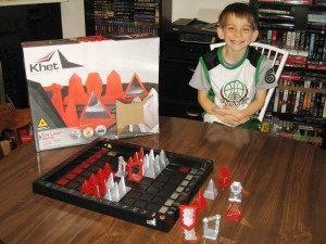 Khet: 2 Players, Ages 9+, Average Play Time = 15-30 Minutes