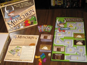 Munchkin Deluxe: 3-6 Players, Ages 12+, Average Play Time = 45-60 Minutes