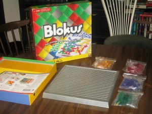 Blokus: 2-4 Players (Solitaire variant available), Ages 5+, Average Play Time = 15-30 Minutes