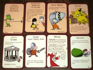 Munchkin Treasure and Door Cards