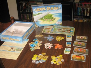 Hotel Samoa: 3-6 Players, Ages 10+, Average Play Time = 45 - 60 Minutes