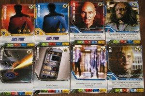 Star Trek The Next Generation Deck Building Game Cards