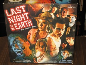 Last Night On Earth: 2-6 Players, Ages 12+, Average Play Time = 60 Minutes