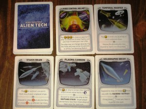 Alien Frontiers Components: Alien Tech Cards