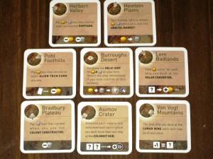 Alien Frontiers: Territory Counters / Bonuses
