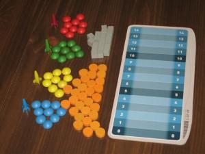 Alien Frontiers Score Markers, Colonies, Fuel and Ore, Scoreboard