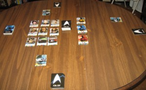 Star Trek The Next Generation Deck Building Game Setup