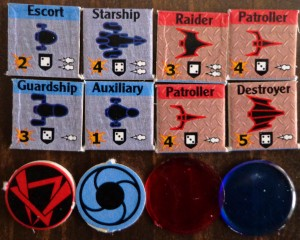 Star Borders: Humanity Ships, Control Markers, Logistic Markers