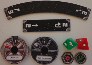 Star Wars X-Wing Miniatures Game Components