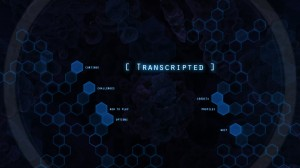 Transcripted Menu