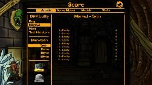 Dwarfs!? Score Menu