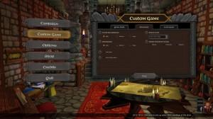 A Game of Dwarves Main Menu