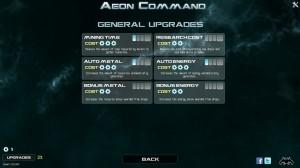 Aeon Command Upgrades