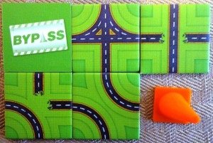 Bypass Tiles and Traffic Cone