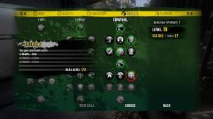 Dead Island Skill Tree