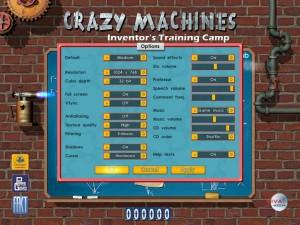 Crazy Machines 1.5 Options