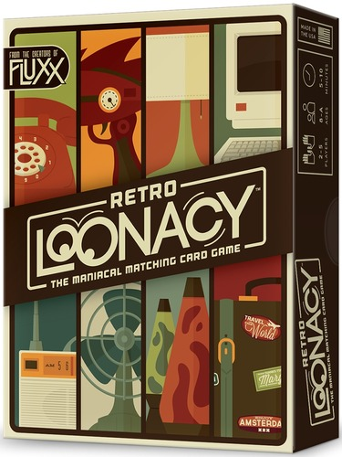 Retro Loonacy: 2-5 Players, Ages 8+, Average Play Time = 5-10 Minutes
