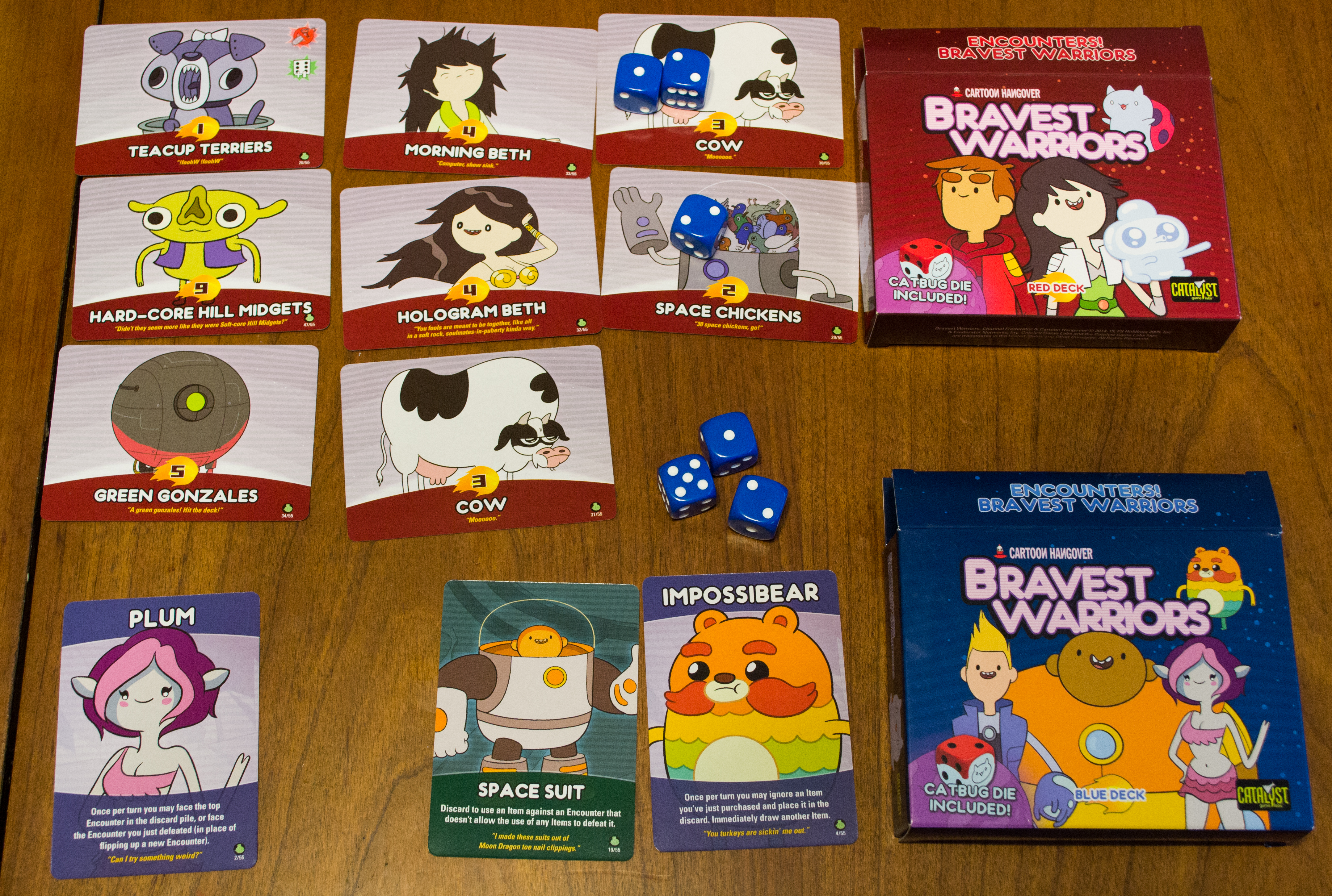 Encounters: Bravest Warriors - 1-4 Players, Ages 12+, Average Play Time = 15-30 Minutes