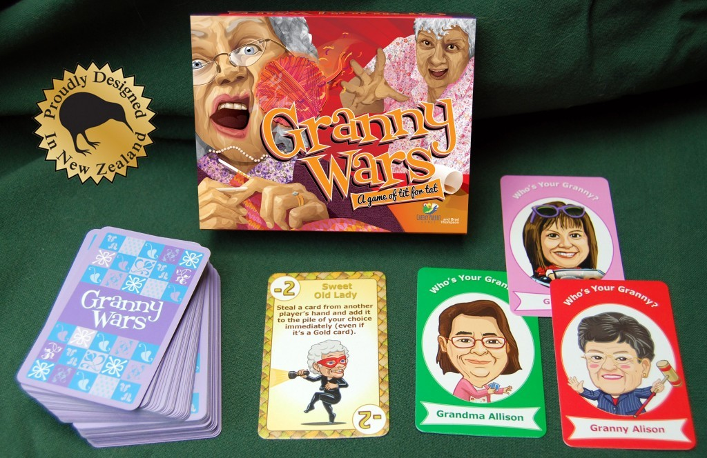 Granny Wars: 2-8 Players, Ages 7+, Average Play Time = 15 Minutes