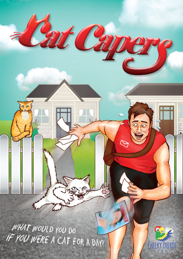 Cat Capers: 2-4 Players, Ages 8+, Average Play Time = 30 Minutes