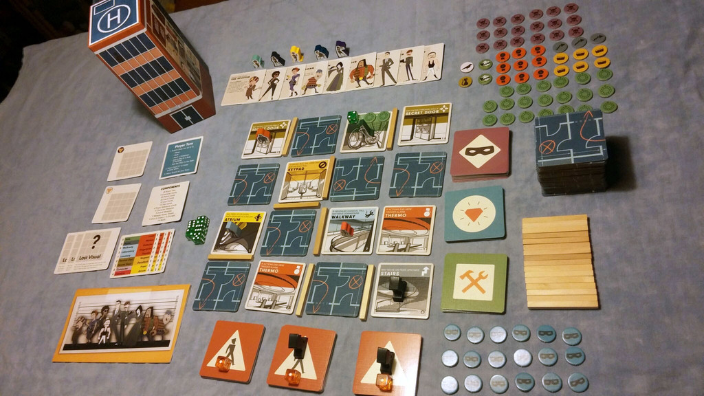 Burgle Bros.: 1-4 Players, Ages 12+, Average Play Time = 45-90 Minutes