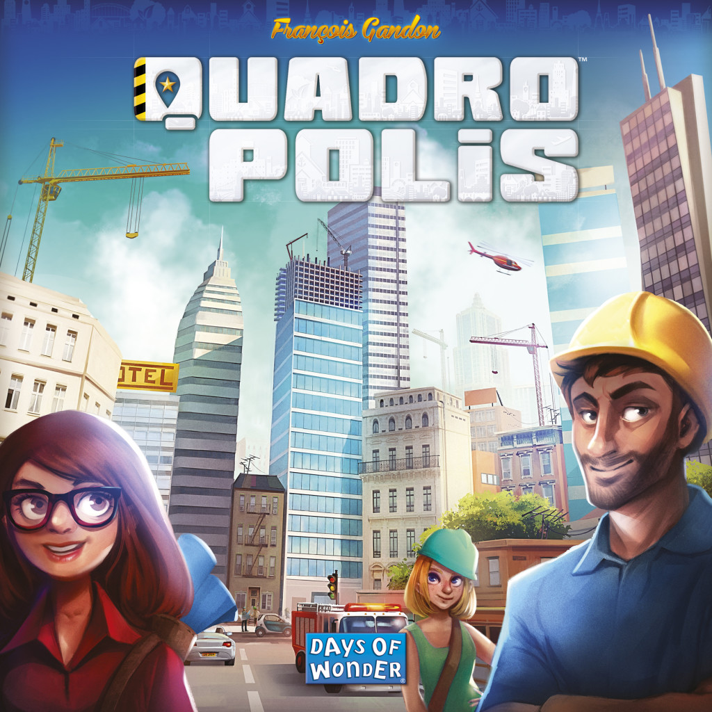 Quadropolis: 2-4 Players, Ages 8+, Average Play Time = 30-60 Minutes