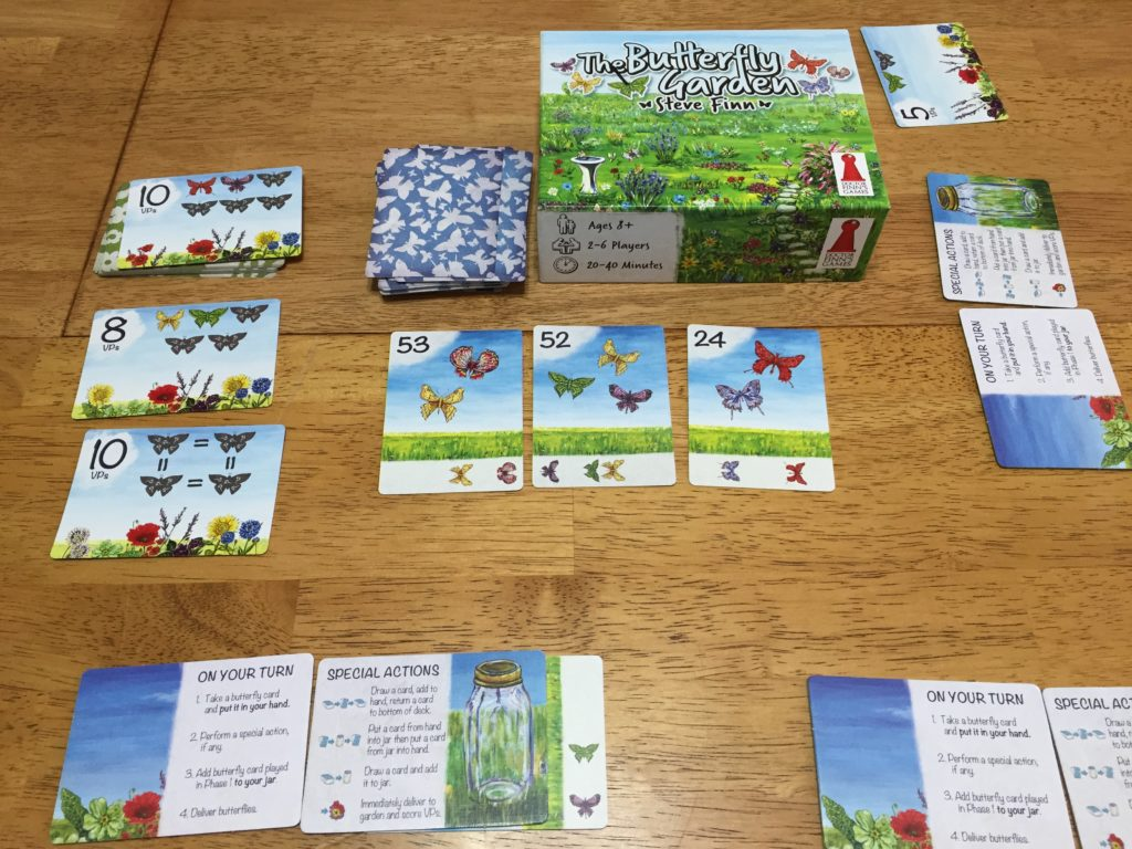 The Butterfly Garden: 2-6 Players, Ages 8+, Average Play Time = 20-40 Minutes