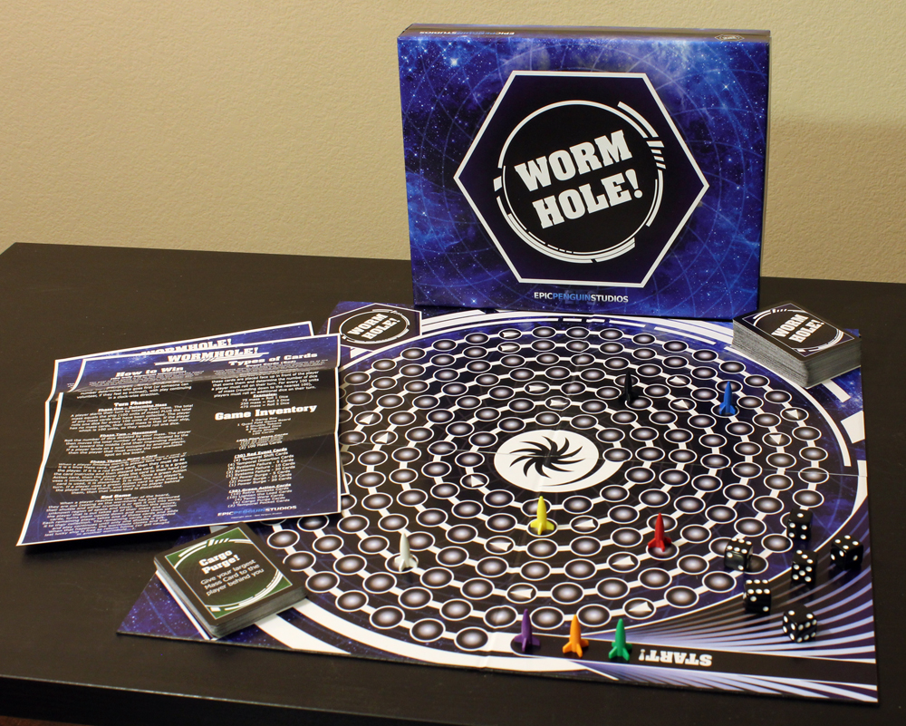 Wormhole!: 2-8 players, Ages 12+, Average Play Time = 30-60 Minutes