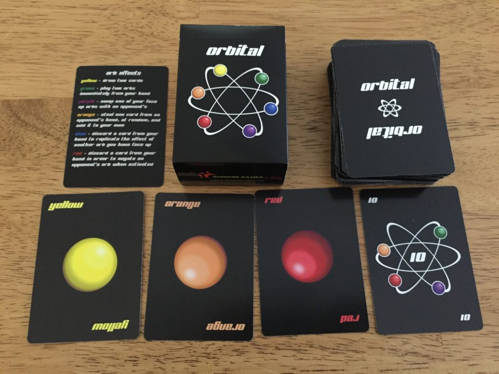 Orbital: 2-4 Players, Ages 12+, Average Play Time = 30-60 Minutes